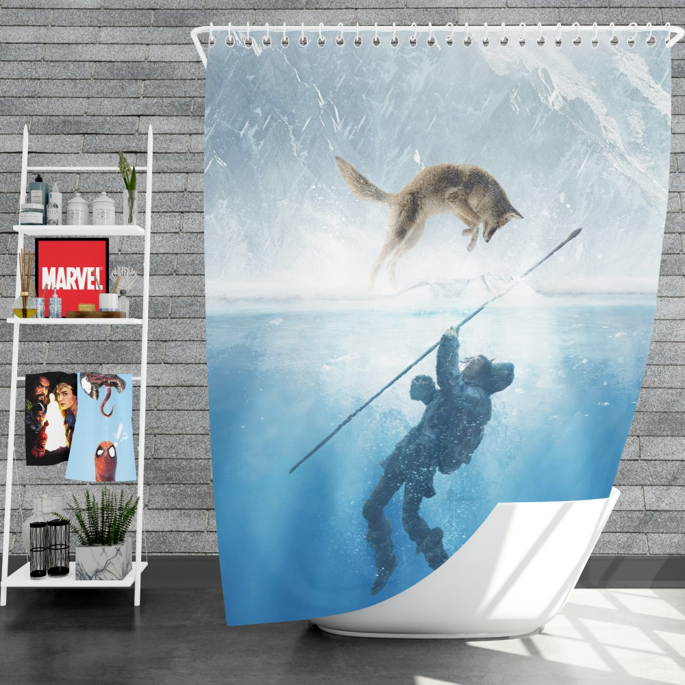 Alpha Blue Movie alpha movie shower curtain