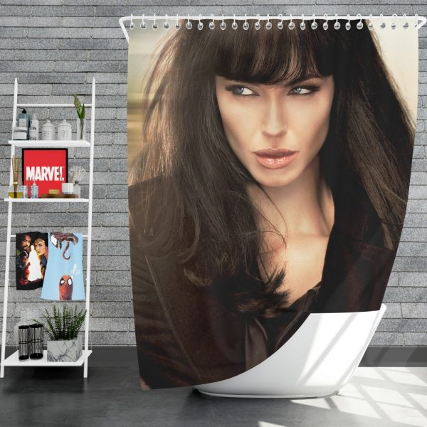 Angelina Jolie in Salt Movie 2010 Shower Curtain