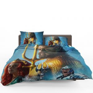 Aquaman Movie Amber Heard Jason Momoa Mera DC Comics Bedding Set 1