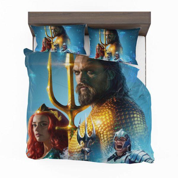 Aquaman Movie Amber Heard Jason Momoa Mera DC Comics Bedding Set 2