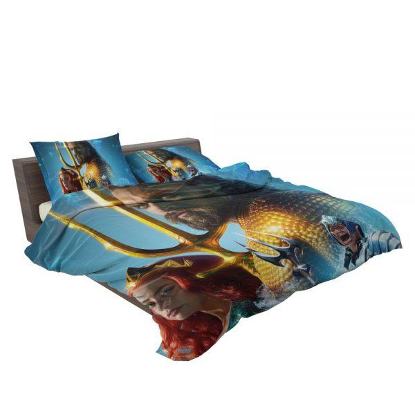 Aquaman Movie Amber Heard Jason Momoa Mera DC Comics Bedding Set 3