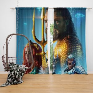 Aquaman Movie Amber Heard Jason Momoa Mera DC Comics Window Curtain