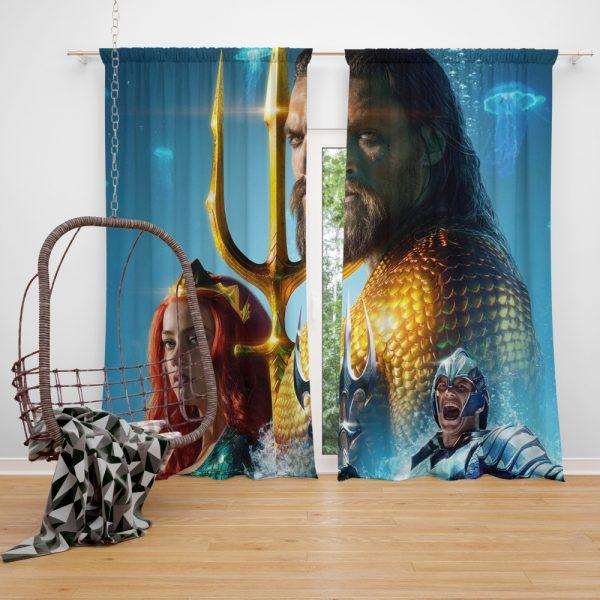 Aquaman Movie Amber Heard Jason Momoa Mera DC Comics Window Curtain
