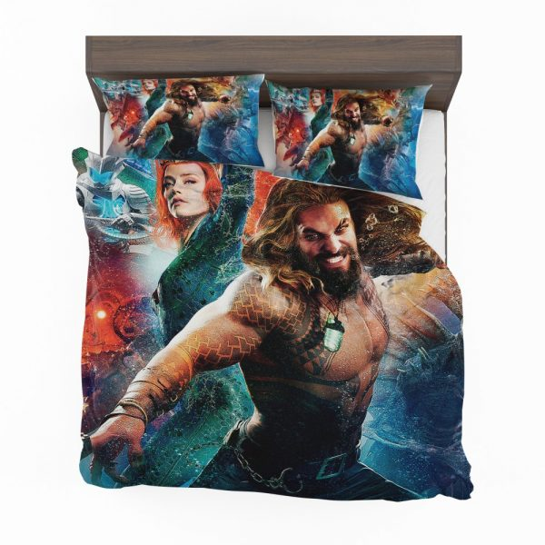 Aquaman Movie Amber Heard Jason Momoa Mera DC Universe Bedding Set 2