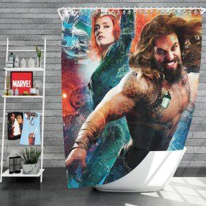 Aquaman Movie Amber Heard Jason Momoa Mera DC Universe Shower Curtain