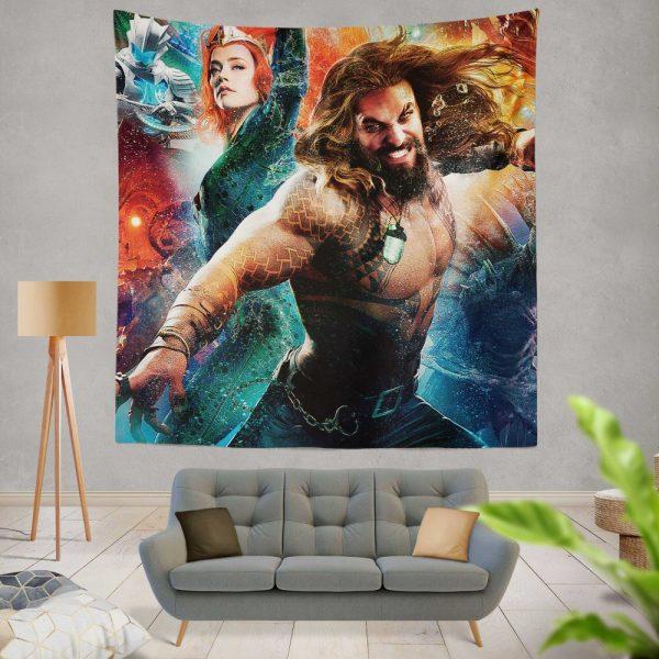 Aquaman Movie Amber Heard Jason Momoa Mera DC Universe Wall Hanging Tapestry