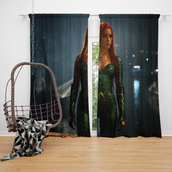 Aquaman Movie Amber Heard Mera DC Comics Window Curtain