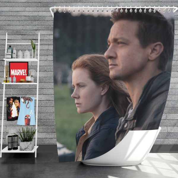 Arrival Movie Amy Adams Jeremy Renner Shower Curtain