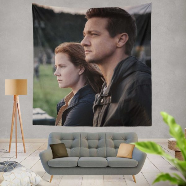 Arrival Movie Amy Adams Jeremy Renner Wall Hanging Tapestry