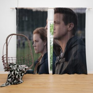 Arrival Movie Amy Adams Jeremy Renner Window Curtain