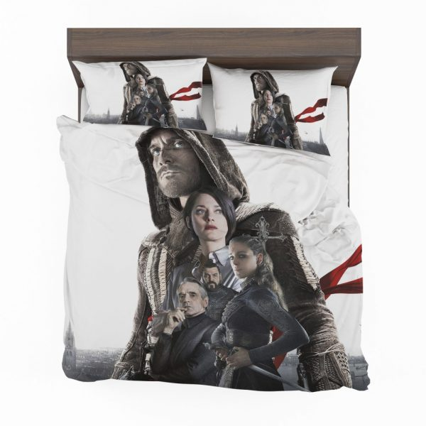 Assassin's Creed Movie Michael Fassbender Cal Lynch Aguilar Marion Cotillard Bedding Set 2