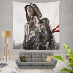 Assassin's Creed Movie Michael Fassbender Cal Lynch Aguilar Marion Cotillard Wall Hanging Tapestry