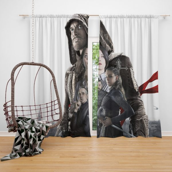 Assassin's Creed Movie Michael Fassbender Cal Lynch Aguilar Marion Cotillard Window Curtain