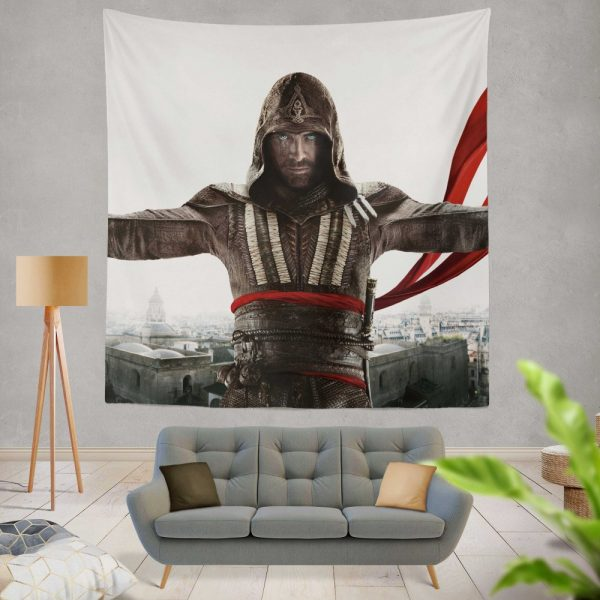 Assassin's Creed Movie Michael Fassbender Marion Cotillard Wall Hanging Tapestry