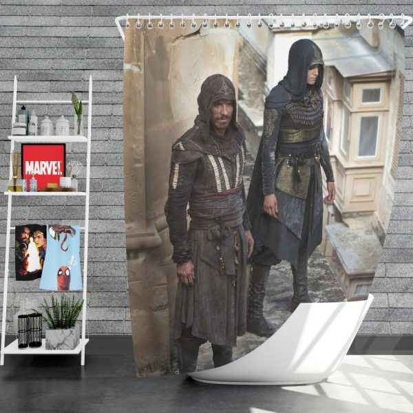 Assassin's Creed Movie Michael Fassbender Shower Curtain