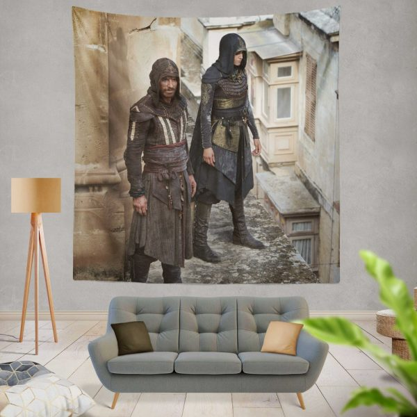 Assassin's Creed Movie Michael Fassbender Wall Hanging Tapestry