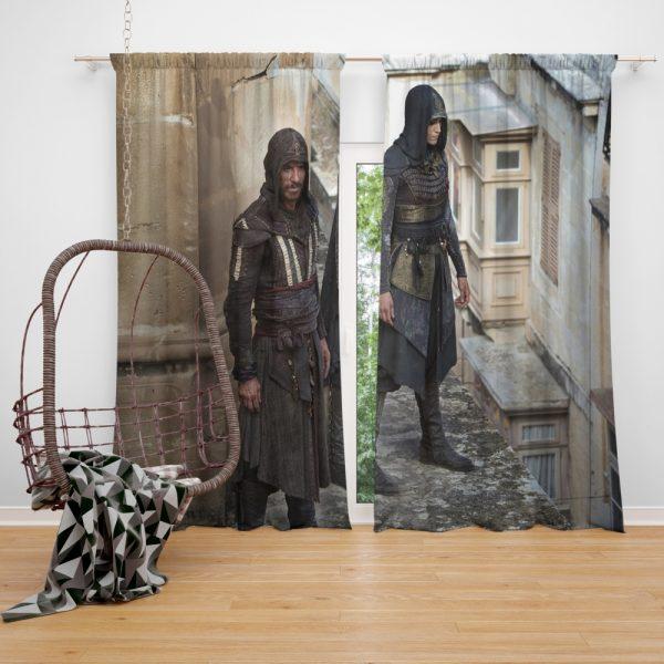 Assassin's Creed Movie Michael Fassbender Window Curtain