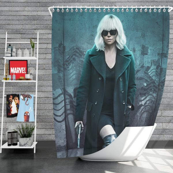 Atomic Blonde Movie Atomic Blonde Charlize Theron Shower Curtain