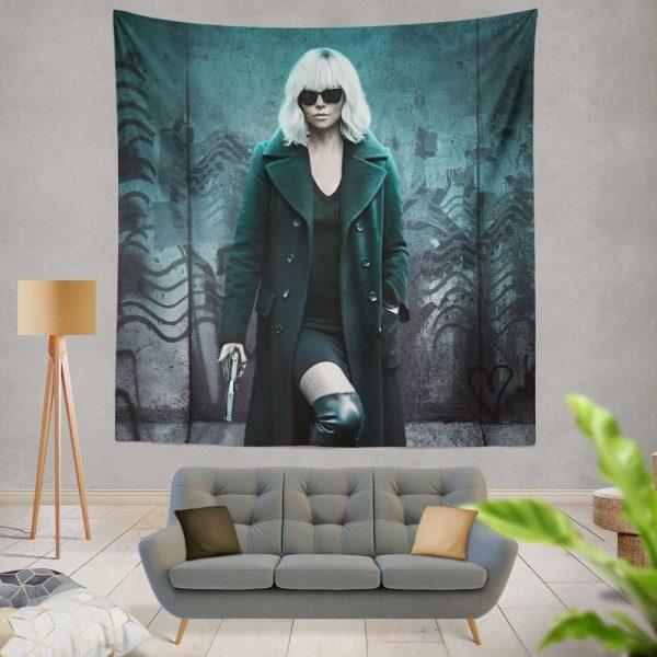 Atomic Blonde Movie Atomic Blonde Charlize Theron Wall Hanging Tapestry