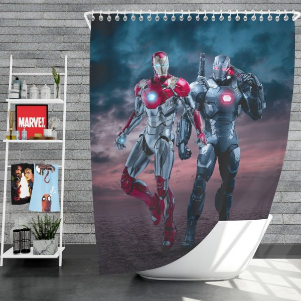 Avengers Age of Ultron Movie Iron Man War Machine Shower Curtain