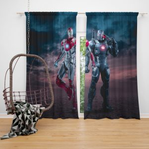 Avengers Age of Ultron Movie Iron Man War Machine Window Curtain