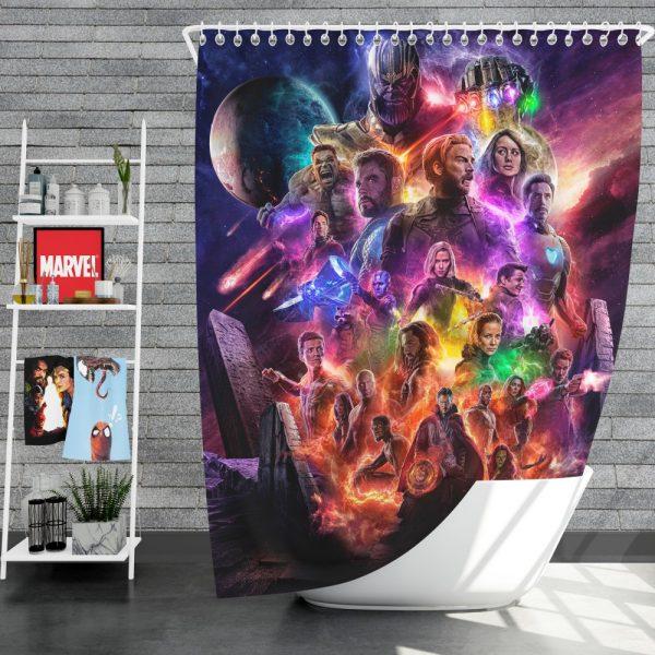 Avengers Endgame Movie Ant-Man Anthony Mackie Benedict Cumberbatch Shower Curtain