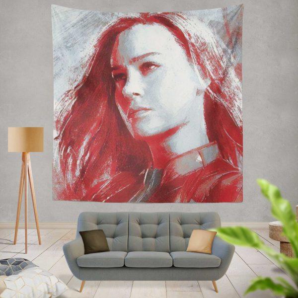 Avengers Endgame Movie Brie Larson Wall Hanging Tapestry