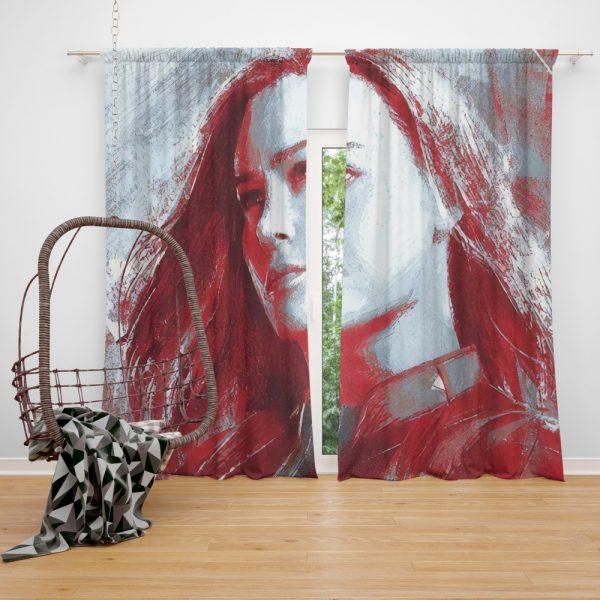 Avengers Endgame Movie Brie Larson Window Curtain