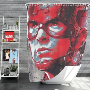 Avengers Endgame Movie Captain America Chris Evans Shower Curtain