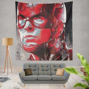 Avengers Endgame Movie Captain America Chris Evans Wall Hanging Tapestry