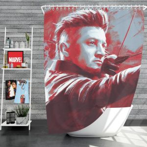 Avengers Endgame Movie Hawkeye Jeremy Renner MCU Shower Curtain