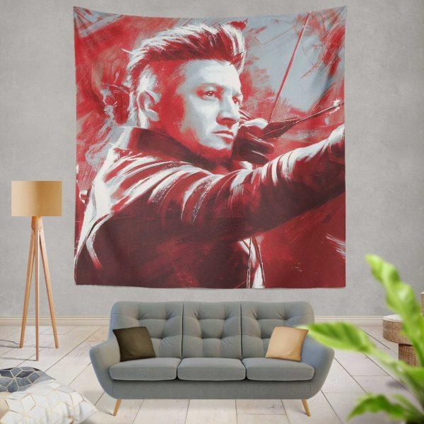 Avengers Endgame Movie Hawkeye Jeremy Renner MCU Wall Hanging Tapestry