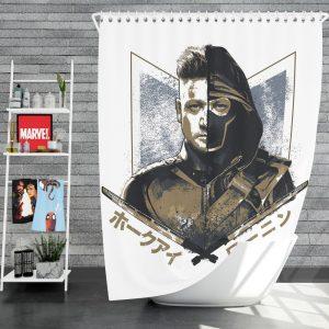 Avengers Endgame Movie Hawkeye Jeremy Renner Shower Curtain