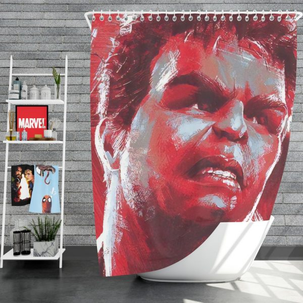 Avengers Endgame Movie Hulk Shower Curtain
