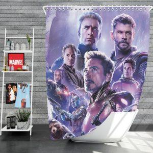 Avengers Endgame Movie Marvel Comics Shower Curtain