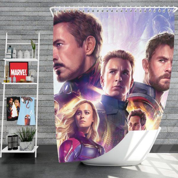 Avengers Endgame The Avengers Marvel MCU Shower Curtain