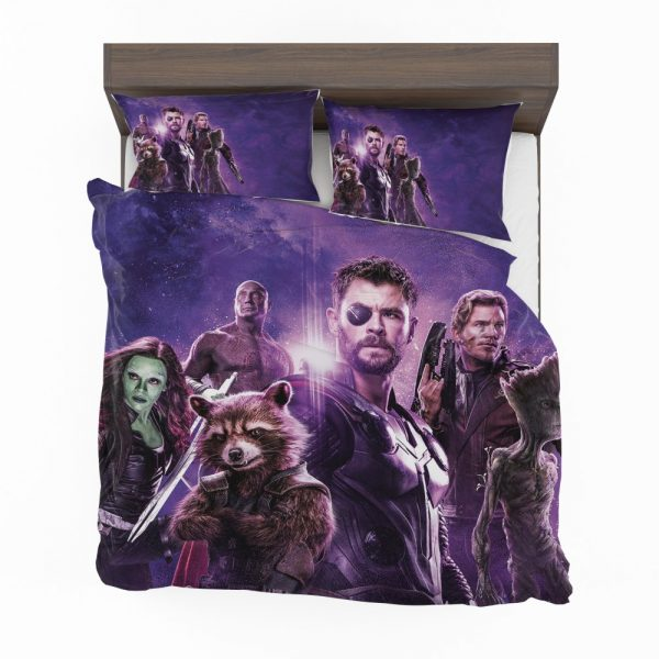 Avengers Infinity War Drax The Destroyer Star Lord Gamora Thor Groot Rocket Raccoon Bedding Set 2