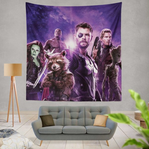Avengers Infinity War Drax The Destroyer Star Lord Gamora Thor Groot Rocket Raccoon Wall Hanging Tapestry