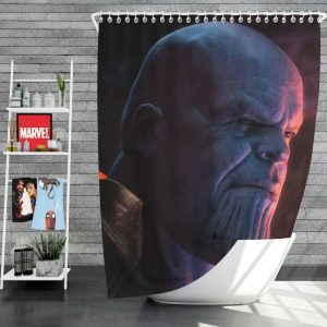 Avengers Infinity War Movie Marvel Comics Thanos Shower Curtain