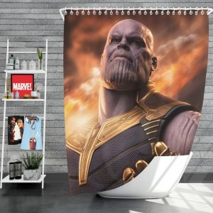 Avengers Infinity War Movie Thanos Shower Curtain