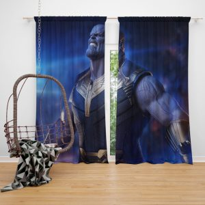 Avengers Infinity War Movie Thanos The Great Villain Window Curtain