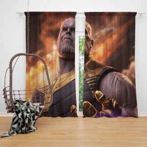 Avengers Infinity War Movie Thanos Window Curtain