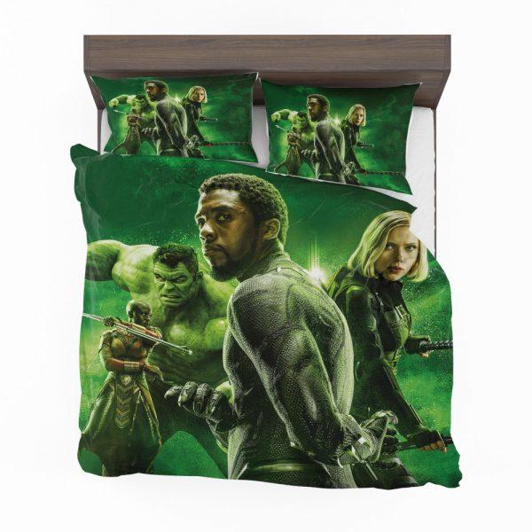 Avengers Infinity War Okoye Black Panther Black Widow Hulk Bedding Set 2