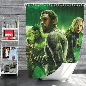 Avengers Infinity War Okoye Black Panther Black Widow Hulk Shower Curtain