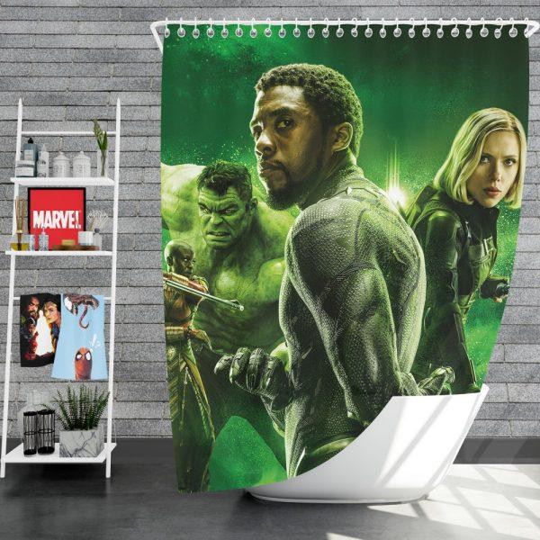 Avengers Infinity War Okoye Black Panther Black Widow Hulk Shower Curtain