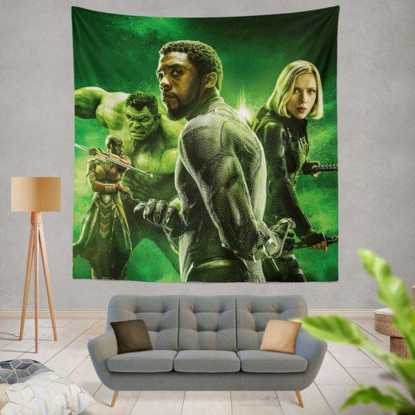 Avengers Infinity War Okoye Black Panther Black Widow Hulk Wall Hanging Tapestry