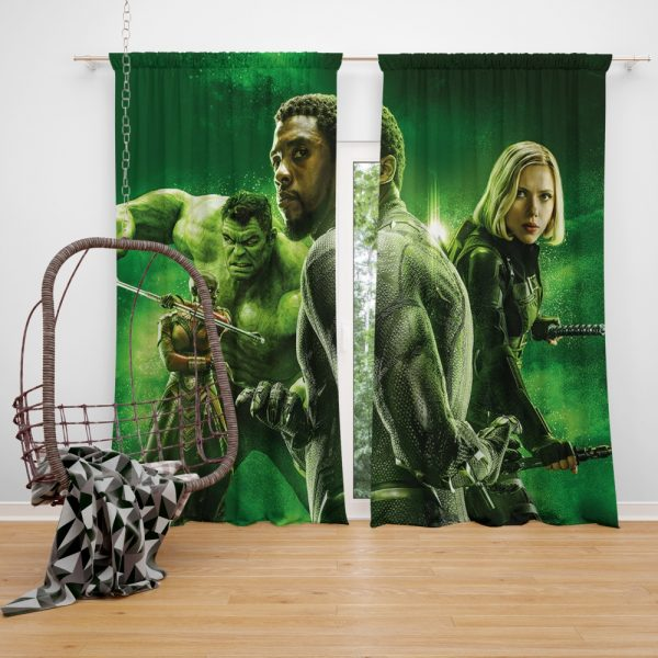 Avengers Infinity War Okoye Black Panther Black Widow Hulk Window Curtain