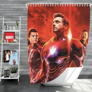 Avengers Infinity War Spider-Man Iron Man Doctor Strange Wong Shower Curtain