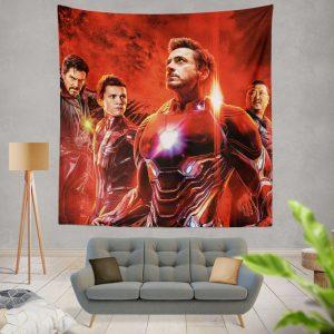 Avengers Infinity War Spider-Man Iron Man Doctor Strange Wong Wall Hanging Tapestry