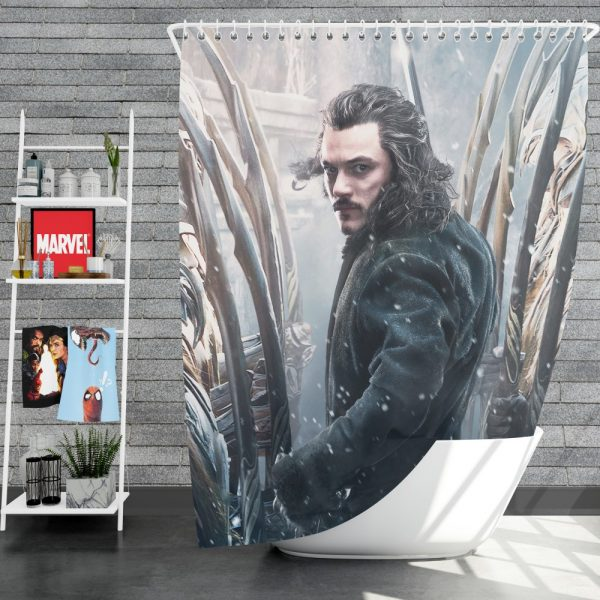 Bard the Bowman in The Hobbit Battle of the Five Armies Movie Shower Curtain